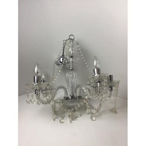 348 - Modern Plastic Chandelier