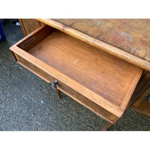 616 - Small John Lewis Walnut Veneer Sideboard - 109cm W x 75cm H