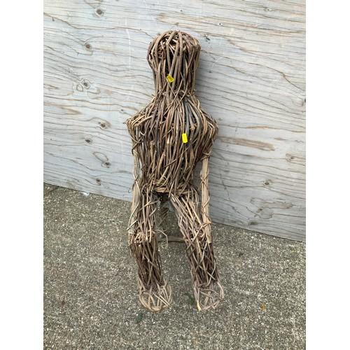 92 - Wicker Figure - 72cm H