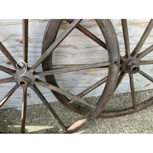 613 - Georgian Carriage Wheels - 63cm Diameter