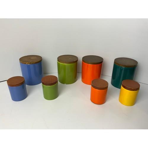 195 - 8x Vintage SMF Schramberger Storage Jars