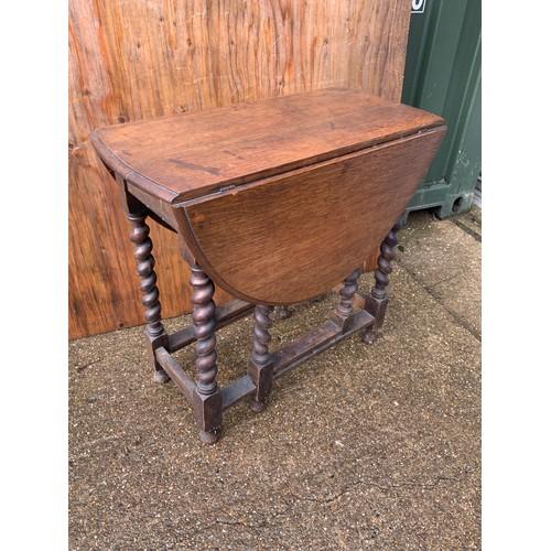 623 - Gate Leg Barley Twist Table