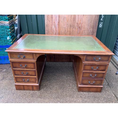 618A - Reproduction Twin Pedestal Desk - 152cm x 90cm