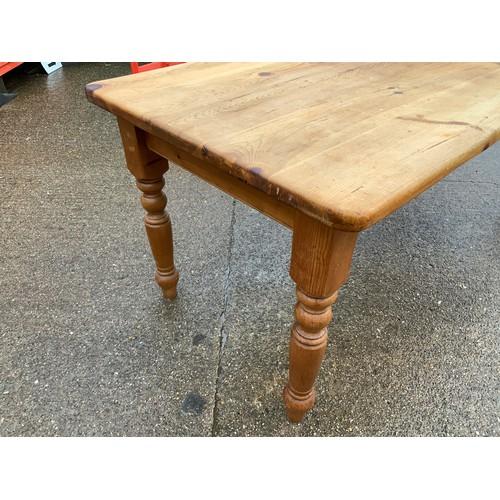 509 - Solid Pine Kitchen Table - 183cm W x 93cm D x 78cm H