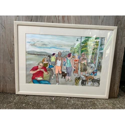212 - C. Smith Watercolour - The Quay, Bideford