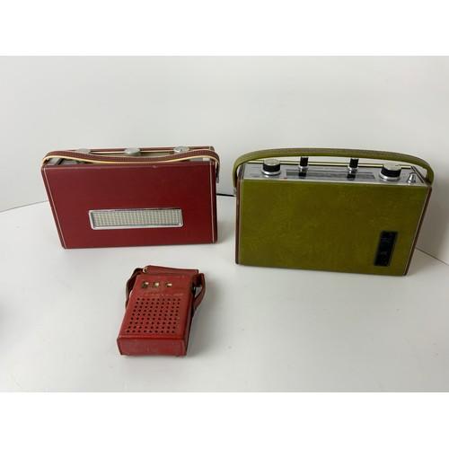 517 - 3x Transistor Radios - Roberts RICI, Roberts R505 and Perdio Mini 66