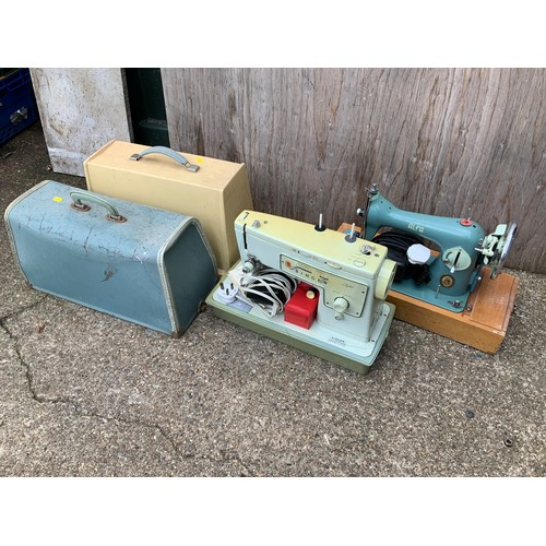 418 - 2x Sewing Machines - Alfa and Singer