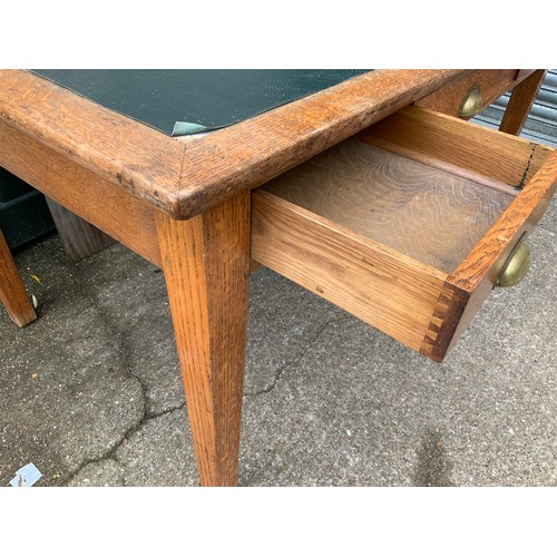 534 - Oak Three Drawer Desk - 152cm W x 90cm D x 76cm H