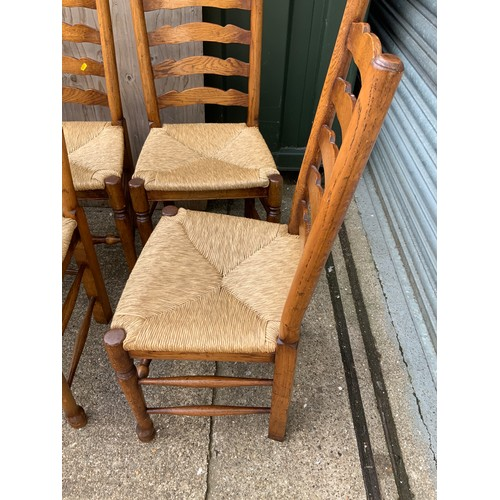 535A - Set of 6x Rush Seated Chairs