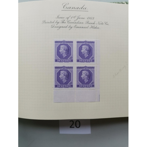 20 - 1953 CORONATION. Omnibus issues apparently complete in UM blocks of 4 (many marginal with imprints a...