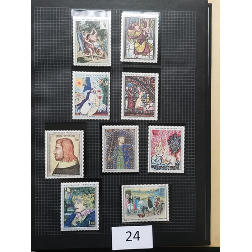 24 - FLOWER THEMATICS. M or UM collection (+ a few FU)  incl. Macau 1953 set M. Also an album of French A...