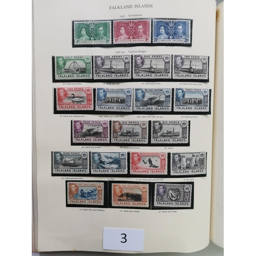 3 - KGVI M and U collection in green SG Crown album  main value in M incl. a range of defin complete and...