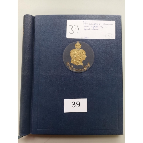 39 - 1937 CORONATION. Omnibus issues complete o.g. in special album. (202)...