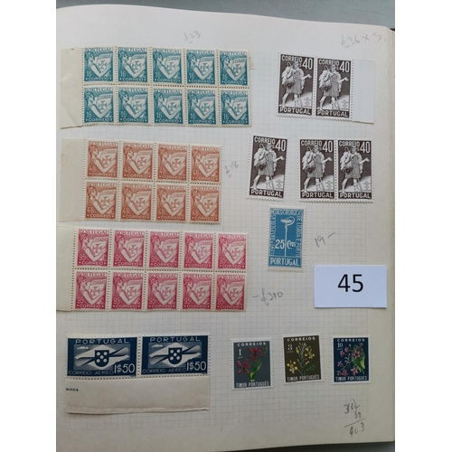 45 - Collection in album  strength in Portugal and Colonies with useful incl. Portugal 1894 Prince Henry ...