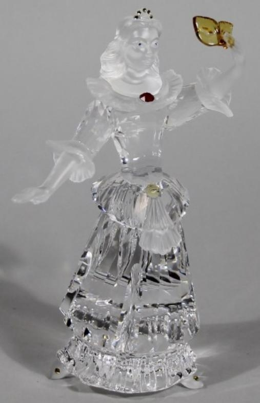 25b1541ea A Swarovski ballroom crystal figure, no. 00GS, with frosted red ...