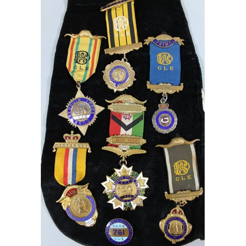 Various Masonic medals, RAOB, etc, Bedouin number 8800, Iraq
