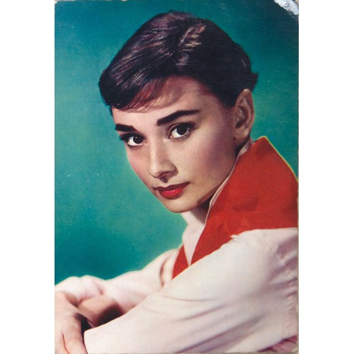 18 - Audrey Hepburn:  Selection of Books and Cuttings, including a French unused Postcard...