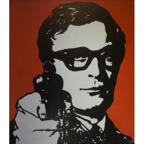 20 - Pop Art Boards:  Michael Caine & The Beatles Caricatures (2)...