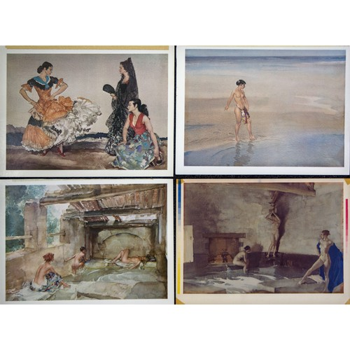 39 - Russell Flint Prints, unsigned. (4)...
