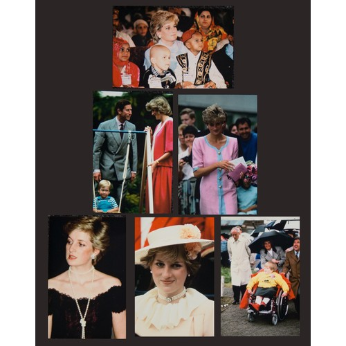 44 - Princess Diana, Transparencies' plus corresponding prints for illustrative purposes only. (No copyri...
