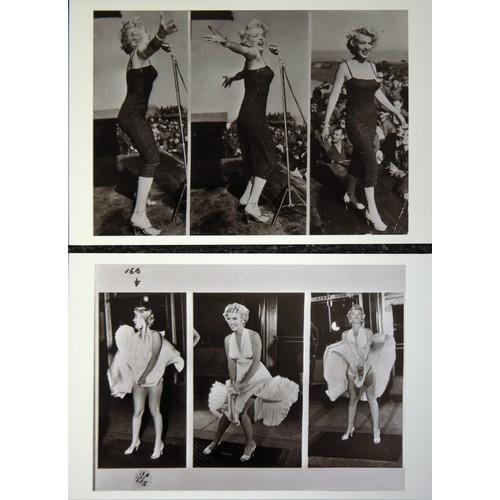 59 - Marilyn Monroe. Two Mono Negatives and corresponding Prints for illustrative purposes...
