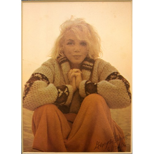 7 - Marilyn Monroe:  Signed and Dated Print by George Barris...