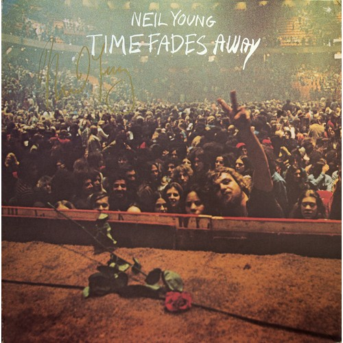 10 - Neil Young: Time fades Away with Record, Bears Signature....