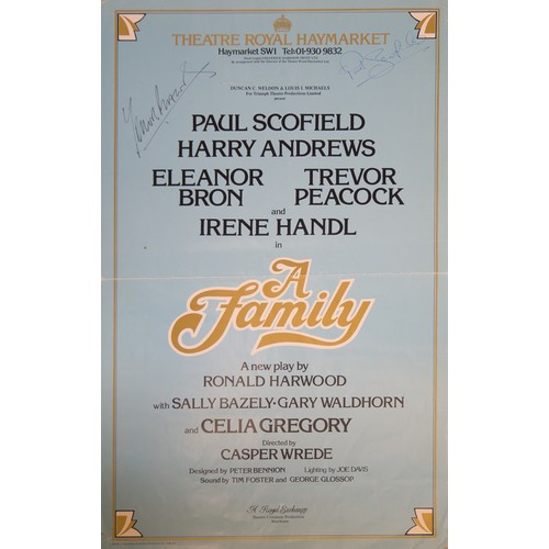 19 - Theatrical Posters:  featuring Julian Fellowes, many signatures...