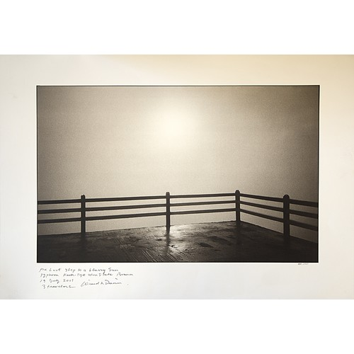 15 - Nick Ross: large Black and White signed and notated photograph...