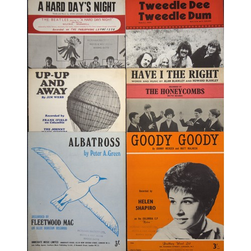 50 - Beatles, sheet music to A Hard Day's Night, plus others. (3)...