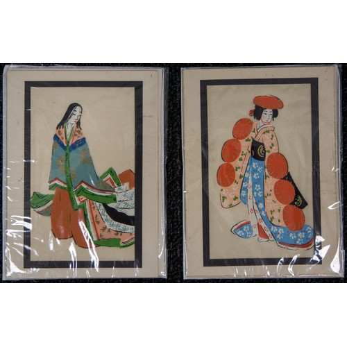 43 - Japanese Paintings on silk, plus another....