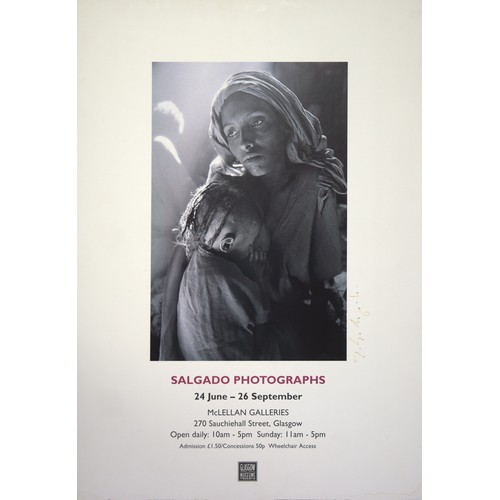 27 - Sebastiao Salgado. Exhibition Poster, Glasgow Museums, on card, signed....