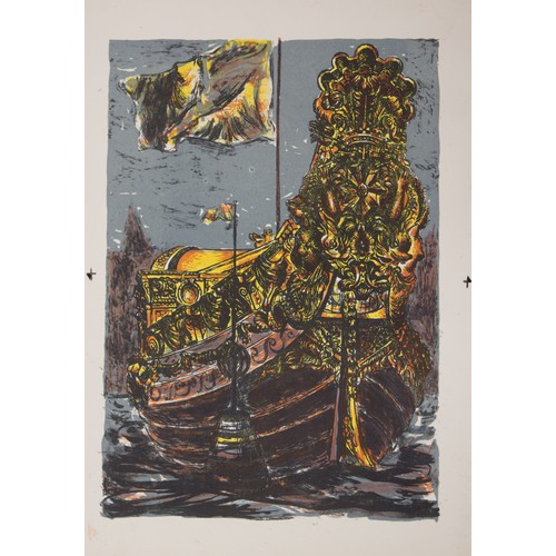 22 - Jane Pickles. Lithograph, The Royal Barge. Dated and inscribed....