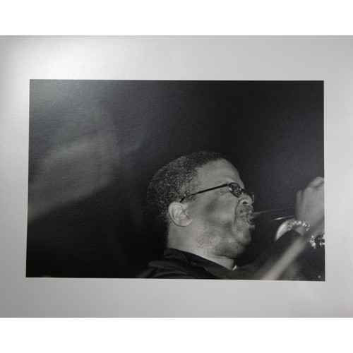 33 - Herb Snitzer:  Original Jazz Photographs. Terence Blanchard and another of James Moody. Dated with s...