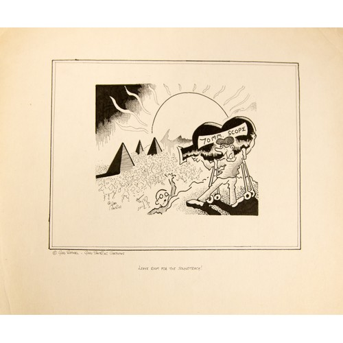 57 - Cartoon, Gary Raphael- Gary Pantling Cartoons. Signed. Together with another similar....