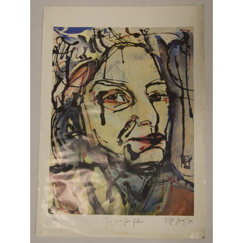 56 - Elfyn Lewis, Rina, Gloss Print, signed and dated....