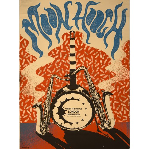 30 - Lithograph Poster, Under the Bridge, EFG London Jazz Festival. Initialled and dated. Together with w...
