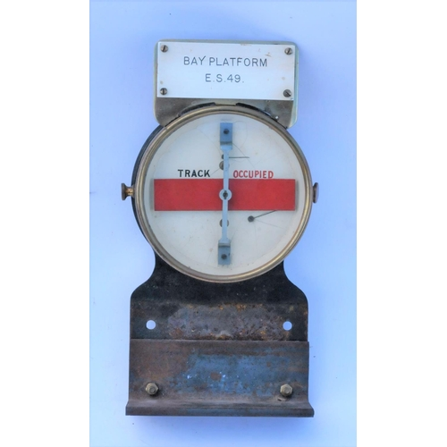 128 - GWR Thompson brass cased track circuit indicator, label states