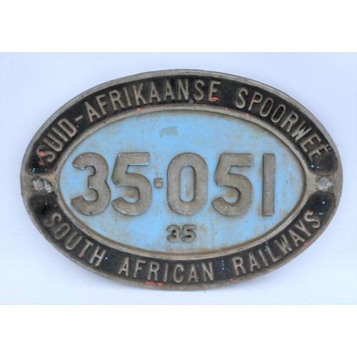 164 - South African cabside, 35-051, Class 35, alloy....