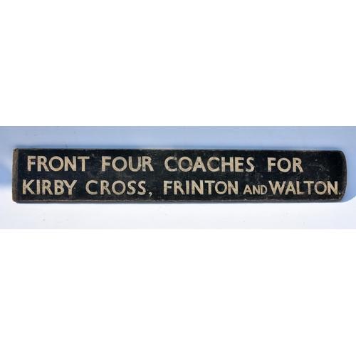 21 - Destination fingerboard Ref:- Kirby Cross, Frinton, Walton....
