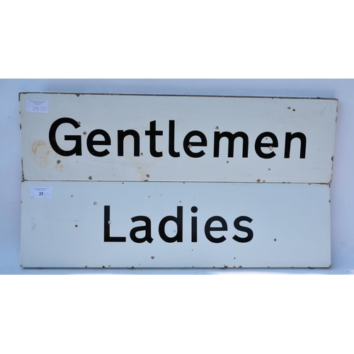 25 - BR corporate enamel signs - Ladies & Gentlemen. (2)...