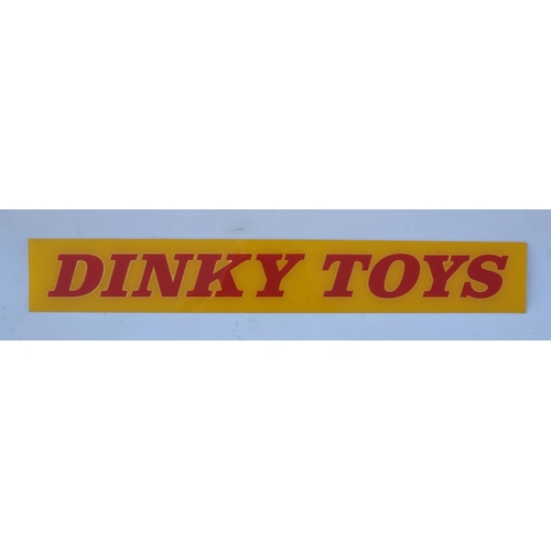 29 - Dinky Toys plastic Shop display sign, mint condition....