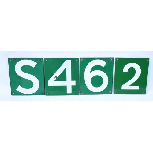 SR car stop signs, S, 4, 6, 2. (4)