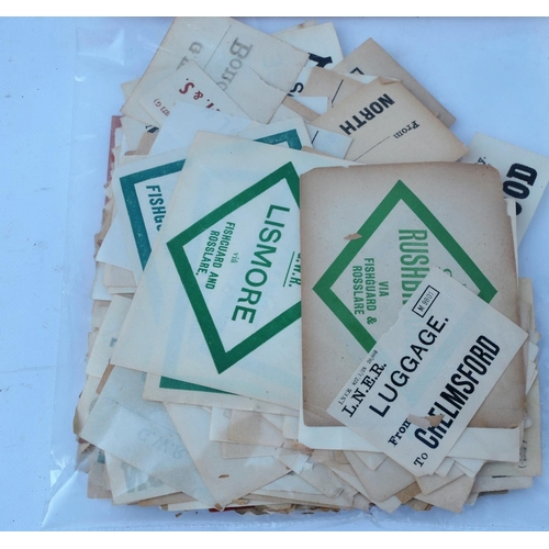 41 - Luggage labels. (600+)...