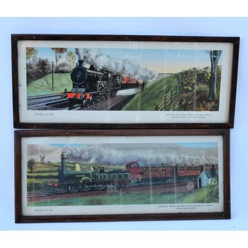 49 - Hamilton Ellis prints, LYR Kirkham + Walkden Troughs. (2)...