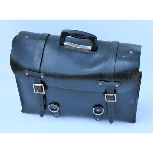 50 - Guard's black leather satchel, good condition....