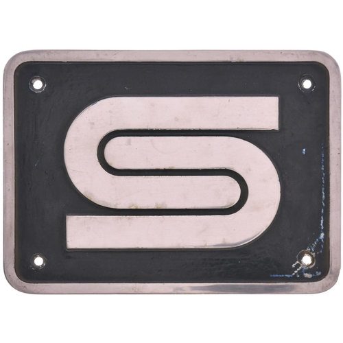 9 - A nameplate badge depicting the BRITISH STEEL logo as carried by Class 37 37902 between June 1991 an...