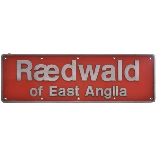 2 - A nameplate RAEDWALD OF EAST ANGLIA from Class 90 90003. Previously named THE HERALD; this plate was...