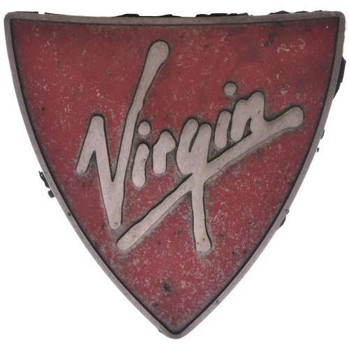 21 - A nameplate AUGUSTE PICARD and a Virgin nose cone from Class 221 Super Voyager 221143. Named after t...