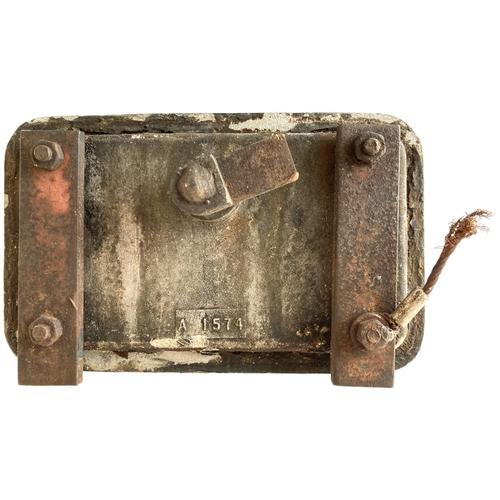 26 - A sandbox door from a Class 52 Western. Rectangular, 7 ½